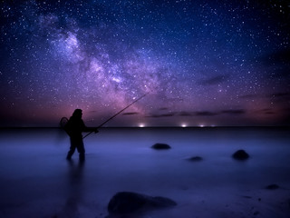 Fisherman and the milky way