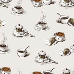 pattern of the coffee cups