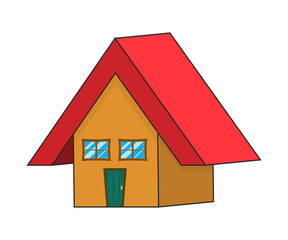 cartoon house vector symbol icon design.