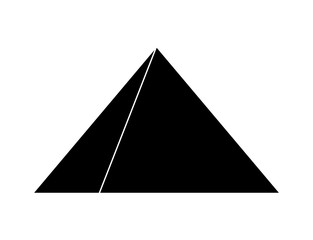 egyptian pyramids vector symbol icon design