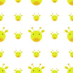 pattern seamless con giraffe su sfondo bianco