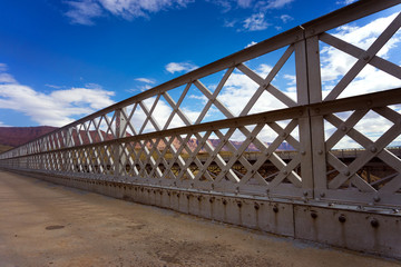 Navajo Bridge and Blue Sky