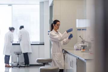Female scientist working in a science laboratory