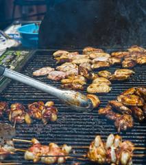 Grilling Bar-B-Que Chicken Kabobs