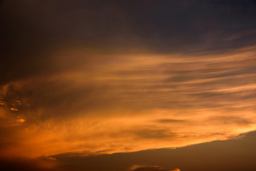 Abstract colorful sunset and clouds.