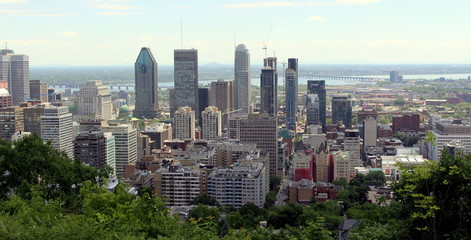 Montreal city in the distance