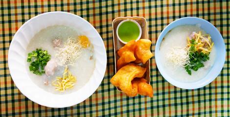 porridge and deep fried dough sticks