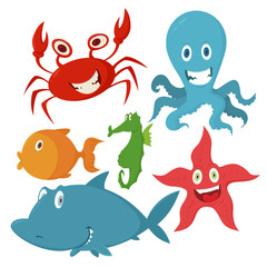 Sea animals set