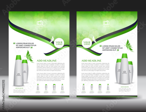 Business brochure flyer template green cover design annual report business brochure flyer template green cover design annual report newsletter ads spiritdancerdesigns Image collections