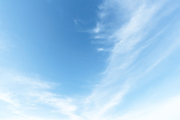 clear blue sky with cloud background