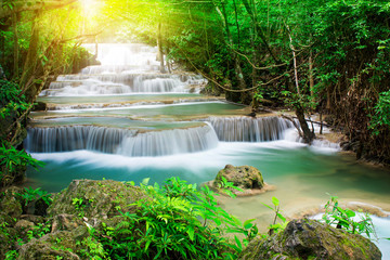 Printed roller blinds Waterfalls Beautiful waterfall in tropical forest