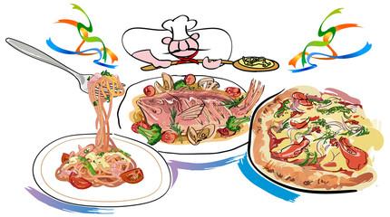 イタリアンなお料理のセット