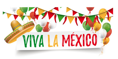 Paper Banner Buntings Chili Sombrero Cinco de Mayo