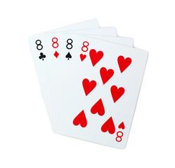 isolated clubs diamonds spades hearts 8