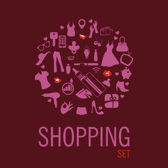 Shopping concept with sale icons design, vector illustration 10 eps graphic.