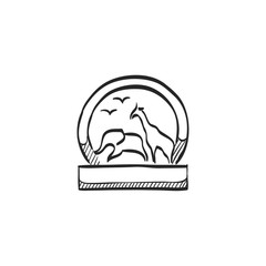 Sketch icon - Zoo gate