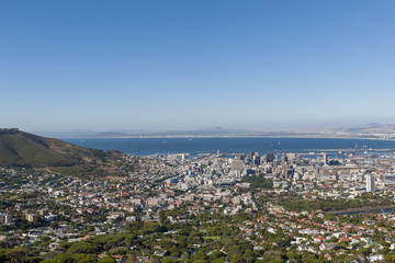 View of Cape Town City Bowl. Western Cape. South Africa.