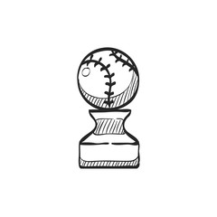 Sketch icon - Baseball trophy