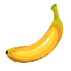 Cartoon yellow banana