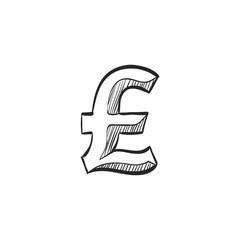 Sketch icon - Poundsterling symbol