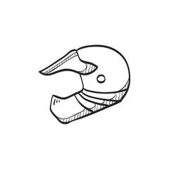 Sketch icon - Motorcycle helmet