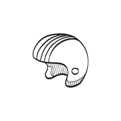 Sketch icon - Motorcycle helmet