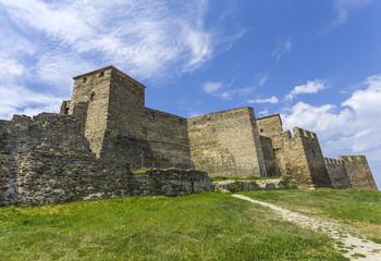 walls of old fortress Yedi Koule, Thessaloniki