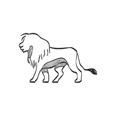 Sketch icon - Lion