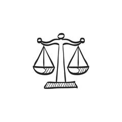 Sketch icon - Justice scale