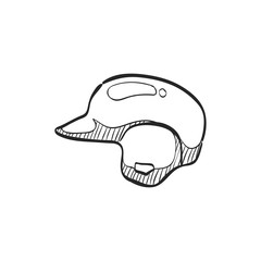 Sketch icon - Baseball helmet