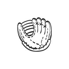 Sketch icon - Baseball glove