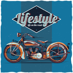 Motorcycle t-shirt label design