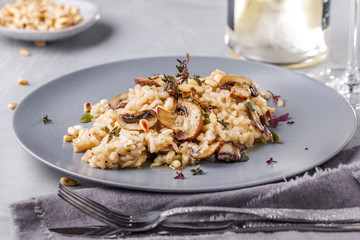 Risotto Fungi mit spargel