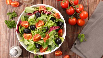 Fotobehang - fresh salad