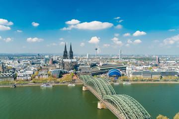 Köln Cologne Spring Stock Photo