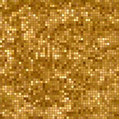 Abstract seamless pattern of pixels. Texture applique star, shining Golden rain . Vector illustration.