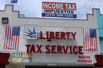 Tax preparation office pictured in Los Angeles