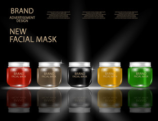 Facial Mask for Skin on the sparkling Background, Concept Skin Care Cosmetic