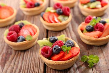 assorted fruit tart