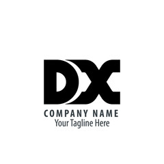 Initial Letter DX Rounded Logo