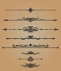 Vintage decorations elements flourishes calligraphic ornaments vector