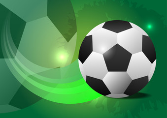 Creative soccer vector design ball concept