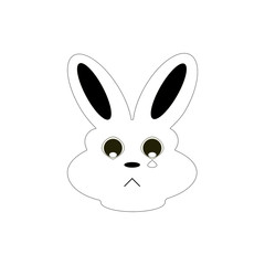 Cute Bunny black and White