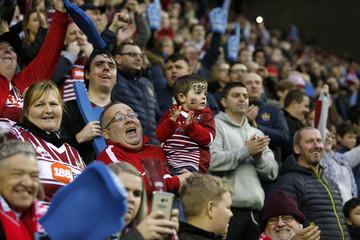 Wigan Warriors fans celebrate