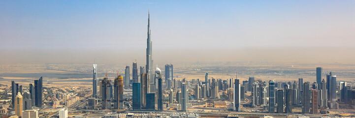 Dubai Skyline Burj Khalifa Panorama Hochhaus Luftaufnahme Luftbild