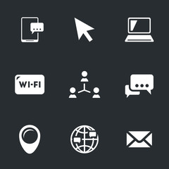 Vector Set of Social Network Icons.
