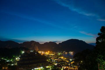 night city life at Phi Phi Island