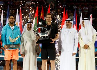 Tennis - Dubai Open - Men's Singles - Final- Andy Murray of Britain v Fernando Verdasco of Spain- Dubai