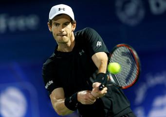 Tennis - Dubai Open - Men's Singles - Andy Murray of Great Britain v Lucas Pouille of France - Dubai