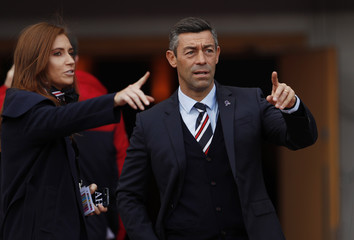 Rangers manager Pedro Caixinha before the match